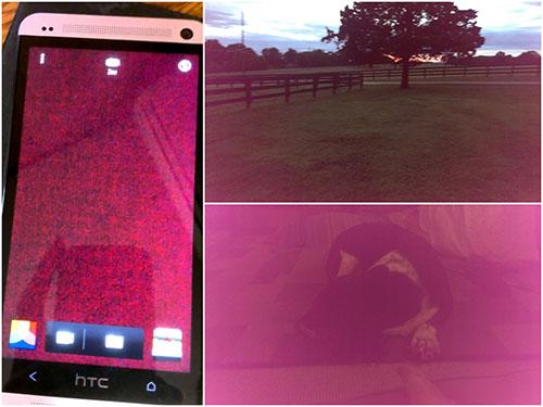 Như thế nào là lỗi ám tím trên camera HTC One M7?